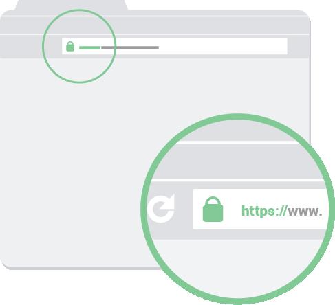 Controlla che l'URL di una pagina web sia corretto e verifica la presenza del protocollo https://